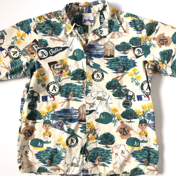 93873a8f reyn spooner Shirts | Vtg Oakland As Hawaiian Shirt | Poshmark